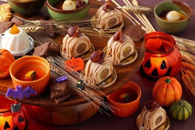 ハロウィンの雰囲気たっぷりのディナー