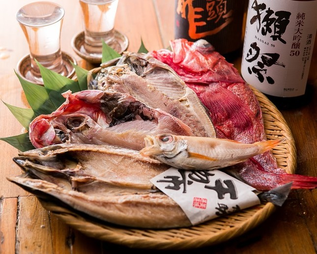 日本酒にあう干物料理も豊富