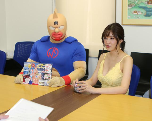 葉加瀬マイさんとキン肉マンが編集部に来てくれた