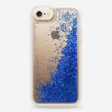 スノードームのように美しいきらめきがiPhoneの背中に