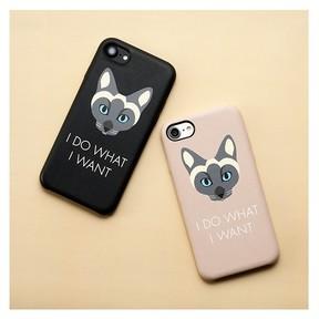 青い瞳のシャム猫デザインのiPhone 8/7/6s/6兼用ケース 「UNiCASE」から