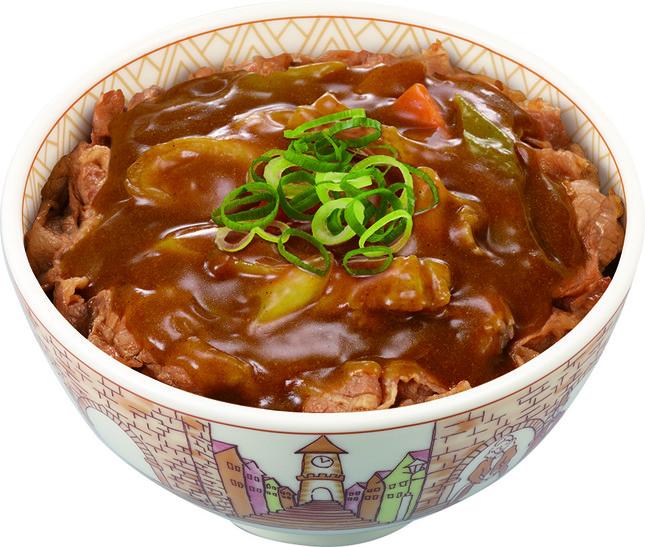 「カレー南蛮牛丼」