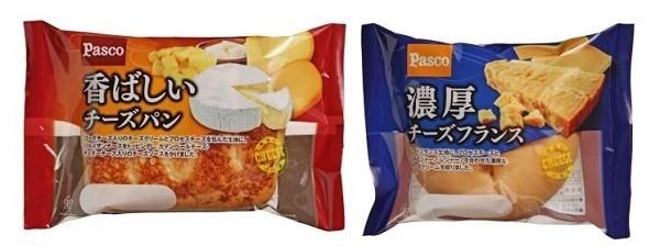 (左)香ばしいチーズパン(右)濃厚チーズフランス