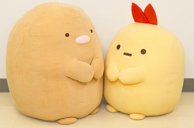 「とんかつ」(左)と「えびふらいのしっぽ」(右)