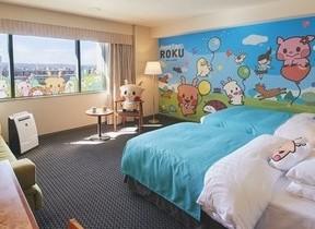 ホテル日航奈良にROKUルーム完成 奈良生まれのかわいい鹿キャラクター