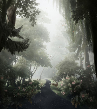 展示される版画作品「まやかしと蝶」ⒸNAOKO OKADA