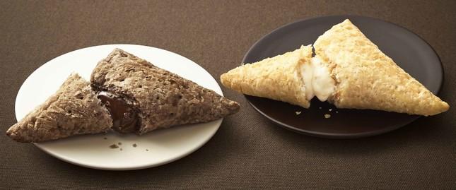 三角チョコパイの黒と白
