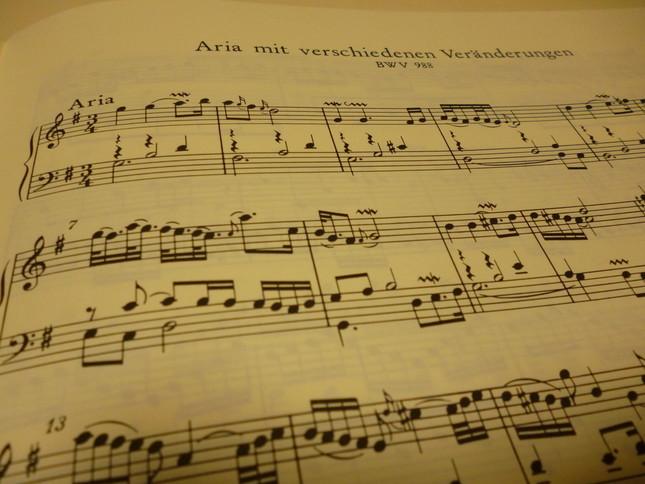 長大な変奏曲の冒頭と最後に置かれるシンプルで美しいアリアは、ドラマや映画にも多く使われている