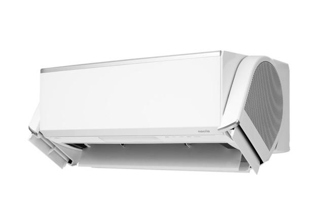 「加熱除菌」と「デュアルブラスター」で心地よい気流の冷暖房