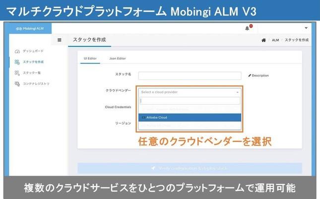 「Mobingi ALM V3」の画面イメージ