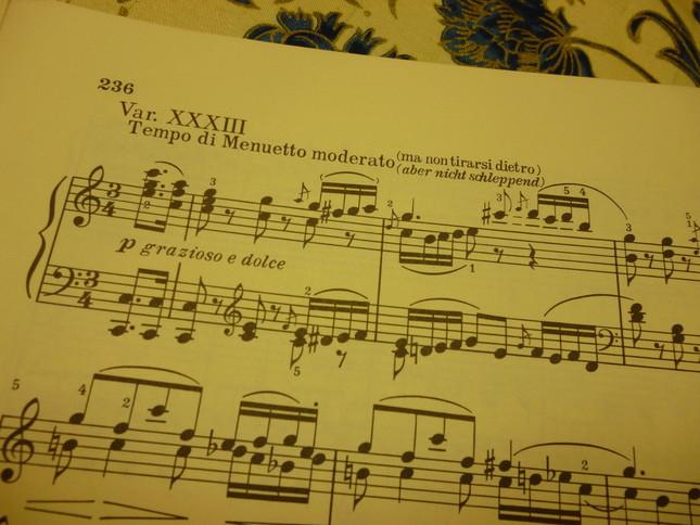 第33番目の最終変奏曲は、主題からかけ離れたベートーヴェンの壮大な世界になっている