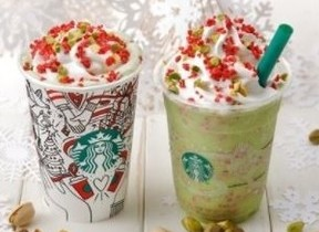 クリスマスカラーがかわいい! スタバに「キャンディー ピスタチオ」「ラズベリー モカ」