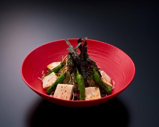 獅子唐と豆腐の生姜風味サラダ