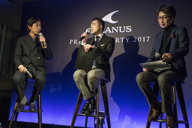 (左から)長崎氏、篠田氏、花形氏