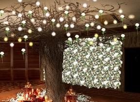 雪の中のフラワーガーデン 青山に5000本の花が織りなす幻想的なアート空間