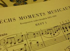 スペルはいい加減だが曲は素晴らしい シューベルトの「楽興の時」