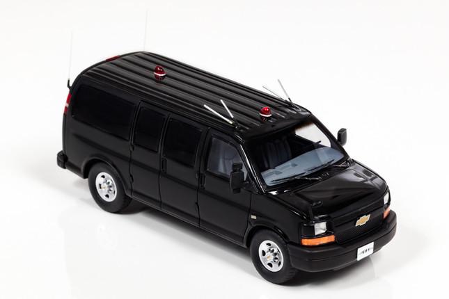 「シボレー エクスプレス L3500 2008 警察本部警備部要人警護車両」
