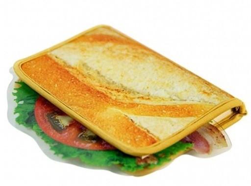 サンドイッチそっくりのブックカバー