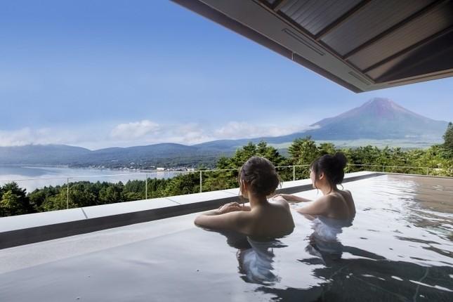雄大な富士を眺めながらのんびり