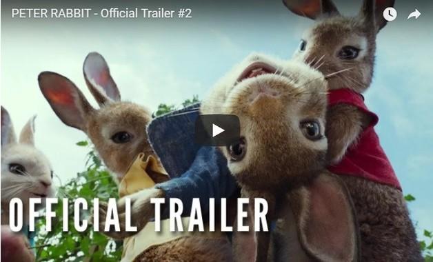 オフィシャルトレーラーには躍動感あるピーターの姿が映されている(画像は「Sony Pictures Entertainment」が公開した「PETER RABBIT - Official Trailer #2」より)