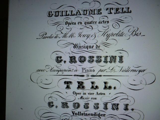 フランス語版の楽譜『ギヨーム・テル』と書いてある