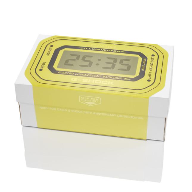 スリーブを加えると時計に時間が表示されているように見える