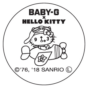 裏蓋のデザイン (C)1976, 2018 SANRIO CO., LTD. APPROVAL NO. S584507
