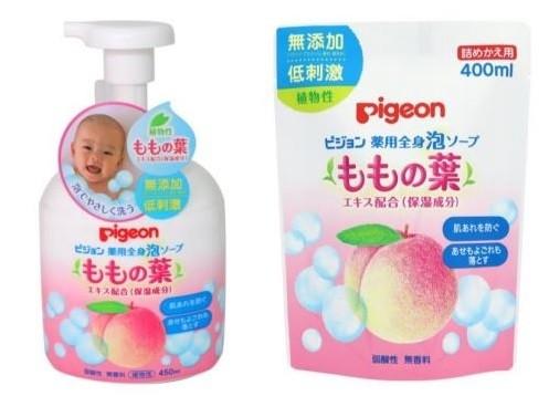 デリケートな赤ちゃんの肌にもやさしい薬用全身泡ソープ