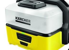 給水タンク一体型のバッテリー式クリーナー 場所を選ばず洗浄できる
