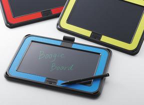 鮮やか色のグリップとラバーケースで握りやすい ペーパーレスの電子メモパッド