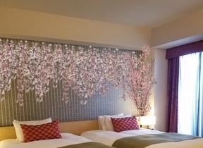 客室も桜で彩った「お花見ステイプラン」 リーガロイヤルホテル京都