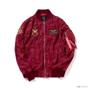 「ガンダム」とミリタリーブランド「ALPHA」コラボのMA-1ジャケット