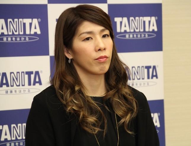吉田沙保里選手(16年12月撮影)