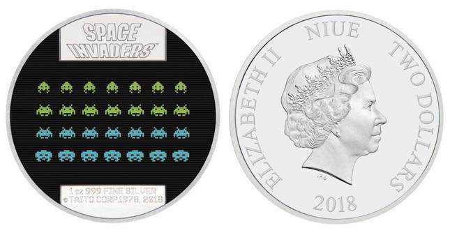 誕生40周年、インベーダーがコインを