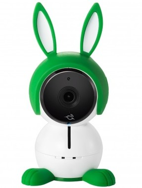 ウサギ型カメラで赤ちゃんをしっかり見守り
