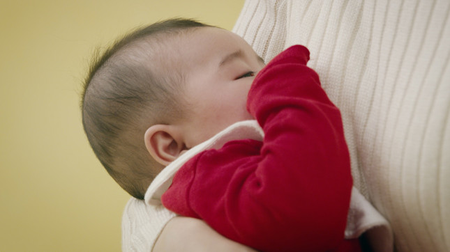 授乳中の0歳児