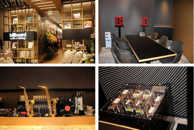 「Billboard cafe&dining」は音楽に包まれた空間