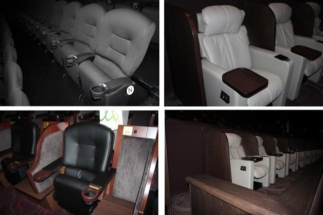 通常の座席の他に、座り心地の良い席も用意