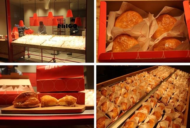 アップル店専門店「RINGO」。日比谷駅からミッドタウンに向かう階段から甘くておいしそうな香りがしてくる
