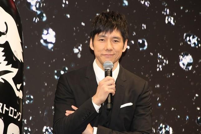 「キリン・ザ・ストロング」CM発表会に登場した俳優の西島秀俊さん