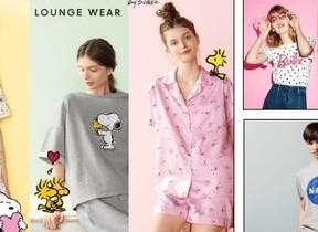 「スヌーピー」のパジャマや「バービードール」ロゴのTシャツも ジーユーから