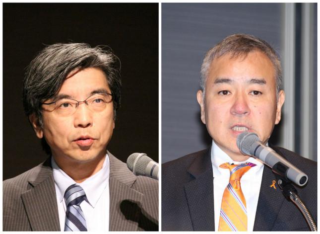 大木隆生教授、(右)井上哲副社長