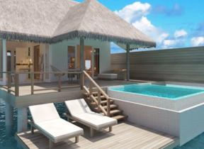 インド洋の楽園モルディブに優雅なホテル 美しい海に囲まれた「サン・アクア・イル・ヴェリ」