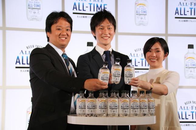 (左から)サントリービールの加藤悠一氏、大津亮氏、児島薫氏
