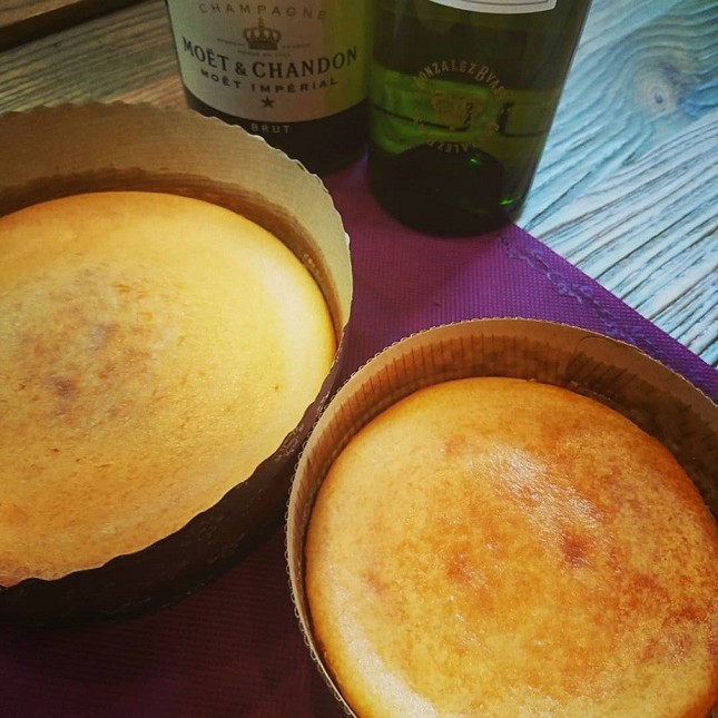 栗田で販売される「Mogura濃厚チーズケーキ」