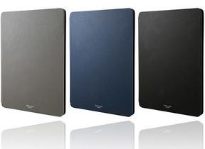 iPad向け手帳型ケース 柔らかい合成皮革使用