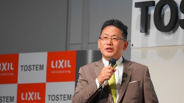 LIXILの代表取締役社長兼CEO瀬戸欣哉さん