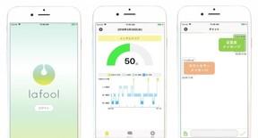 メンタルヘルスケアアプリ「LAFOOL」 ウェアラブル端末と連動