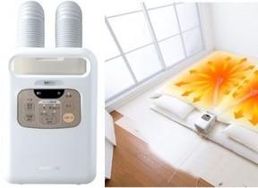 伸縮ノズル2本搭載、ふとん2枚を同時に乾燥 ふとん乾燥機