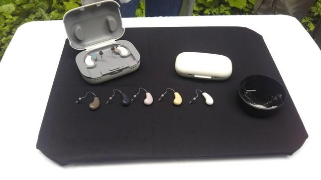 体験会で紹介された補聴器